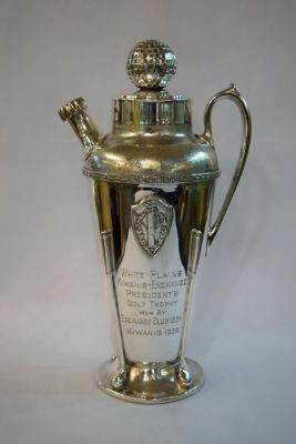 Art Deco Silverplate Golf Trophy - White Plains Kiwanis Exchange President   s Golf Trophy