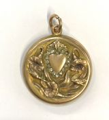 Art Nouveau Gold Filled Double Picture Locket