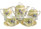 Art Nouveau Porcelain Tea Set, circa 1895
