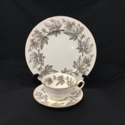 Ashford Grey by Wedgwood Dinner Service for 8