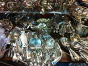 Silver Plate Serving Pieces & Flatware
