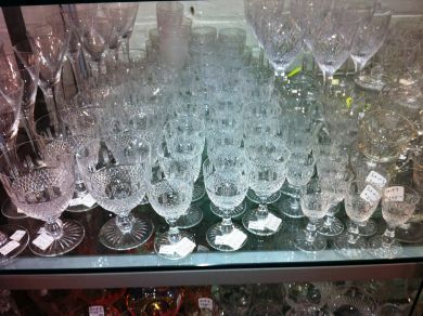 Assorted September 2011/antique crystal stemware