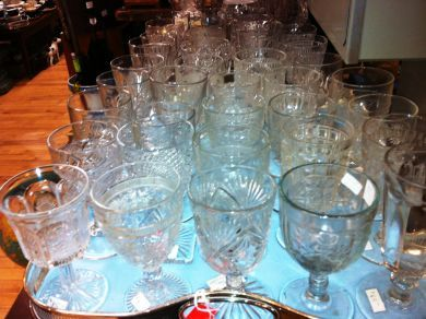 Antique & Vintage Glass Goblets