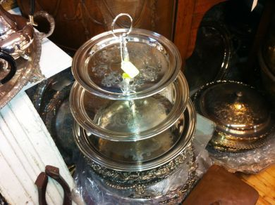 Assorted September 2011/silverplate cake stand