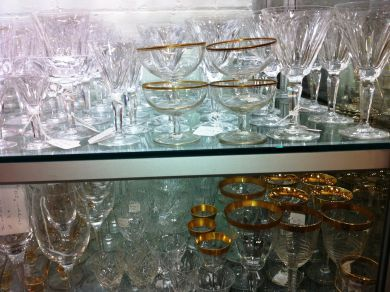 Assorted September 2011/vintage crystal stemware  3