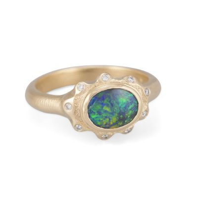 Audrius Krulis Opal and Diamond Ring