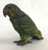 Austrian Parrot Inkwell, Cold Painted Spelter, circa 1900