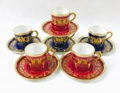 Aynsley Demitasse Cups And Saucers, Pattern B650, Circa 1925-34