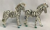 Basil Matthews Zebra Figures With Whimsical Colouring
