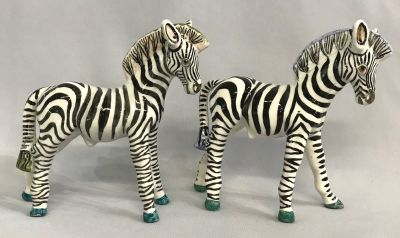 Basil Matthews Zebra Figures With Whimsical Colouring c