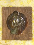 Bela Voros Cubist Bas Relief Plaque Sculpture Art Deco