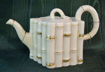 Belleek Bamboo Pattern Teapot