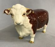 Beswick Hereford Bull,