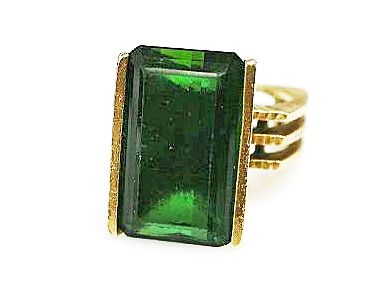 Birks Green Tourmaline Solitaire Ring