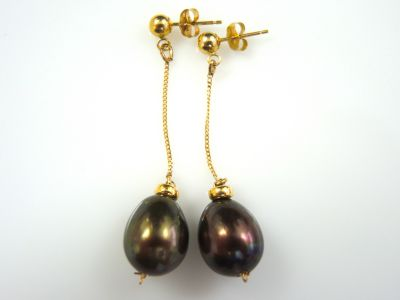 Black Pearl Earrings CFA1311126