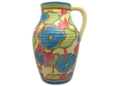 Blue Chintz Clarice Cliff Lotus Jug  CC003 1 REVISED