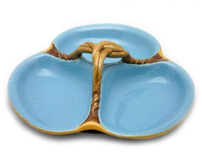 Blue Majolica Serving Dish 1 Cynthia Findlay Antiques