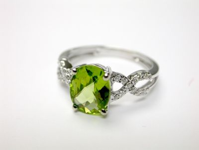 Braided Peridot Ring CFA1406153