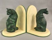 Bronze Cat Form Bookends