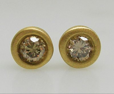 Brown Diamond Earrings AGL46465