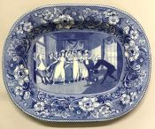 Buffalo Pottery Blue and White Transfer Ware Platter