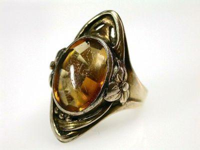 Citrine Art Nouveau Ring