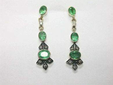 CFA 2014/Custom Made Emerald Earrings CFA1408108 78591