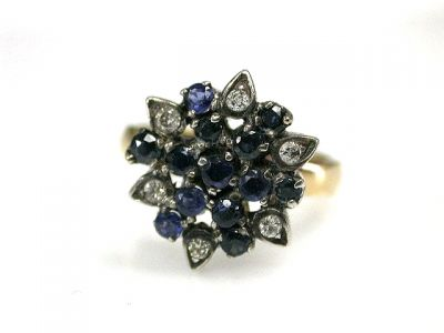 CFA 2014/Sapphire Cluster Cynthia Findlay Antiques CFA1210244 69231
