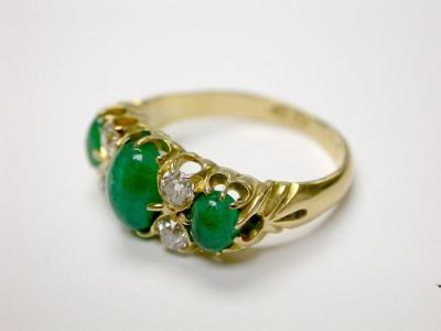 Cabochon Emerald Ring CFA140363