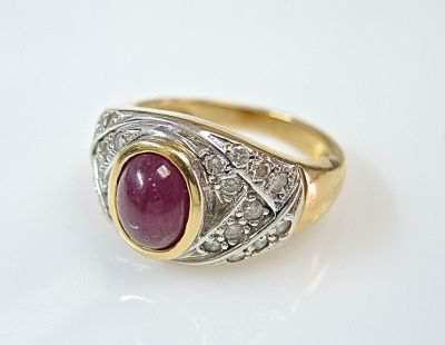 Cabochon Ruby Ring CFA1405175
