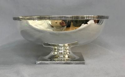 Canadian Art Deco Sterling Silver Pedestal Bowl