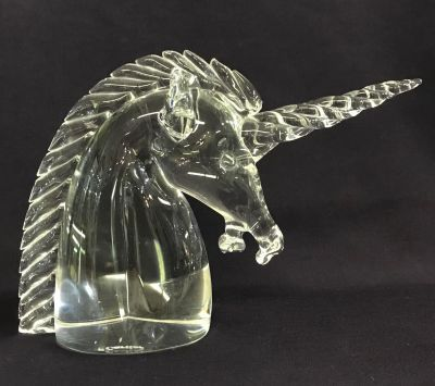 Cartier Crystal Unicorn Paperweight c