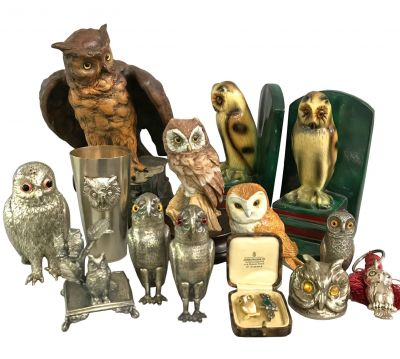 Charming Antique   Vintage Owls 3