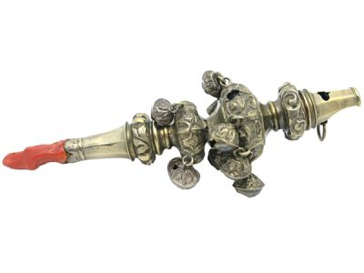 Charming Victorian Baby Rattle