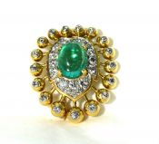 Chaumet Emerald and Diamond Brooch