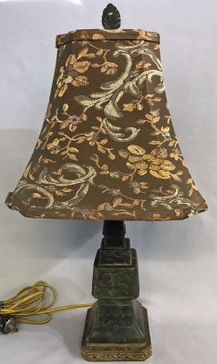 Chinese Carved Soapstone Table Lamp, Circa 1920s