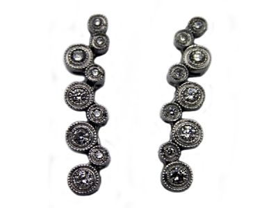 Christmas Jewellery/Playful Diamond Drop Earrings 1 Cynthia Findlay Antiques