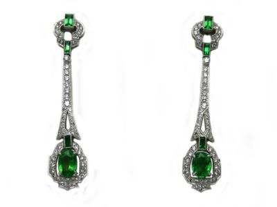 Christmas Jewellery/Stunning Tsavorite Garnet Earrings 64061 1 Cynthia Findlay Antiques