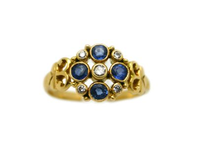 Christmas Rings/Charming Sapphire and Diamond Ring 1 Cynthia Findlay Antiques