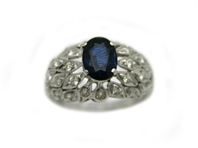 Christmas Rings/Vintage Sapphire and Diamond Ring 68993