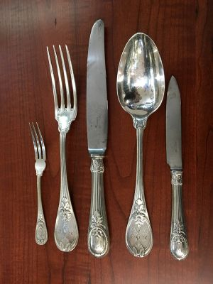 Christofle Silver Plate Flatware Set