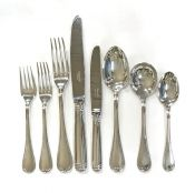 "Christofle Flatware ""Malmaison"" Pattern In Silver Plate"