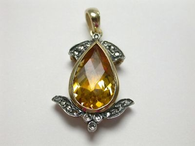 Citrine and Diamond Ring CFA1312164