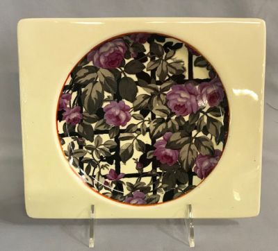 Clarice Cliff Plate With The Biarritz Royal Staffordshire Trademark 2