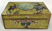 Cloisonné Enamel On Brass Cigarette Box