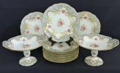 Coalport Bone China Dessert Service, English, circa 1920.  Pattern # 8978