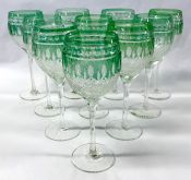 Coloured Crystal Wine Glasses