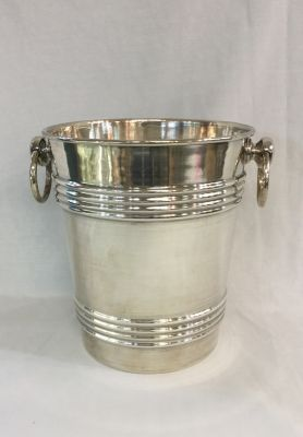 Columbian Sterling Silver Pail Shaped Ice Bucket - 1