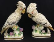 Continental European Porcelain Cockatoo Figures