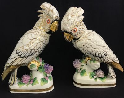 Continental European Porcelain Cockatoo Figures 4